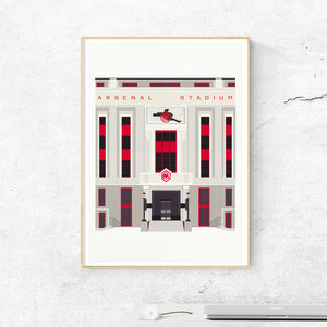 Art Deco London The Old Arsenal Stadium Art Print - architecture & buildings