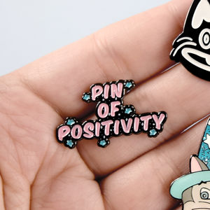 Positive Enamel Pin Badge Gift - pins & brooches
