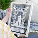 Personalised Floral Wedding Arch Silhouette Papercut