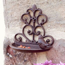 Cast Iron Wall Mounted Garden Bird Feeder