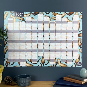 2021 Otters Wall Calendar And Year Planner