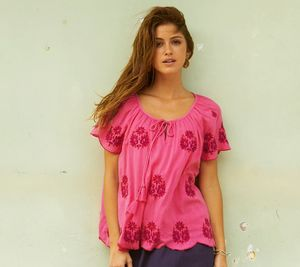 Nadine Embroidered Blouse Raspberry