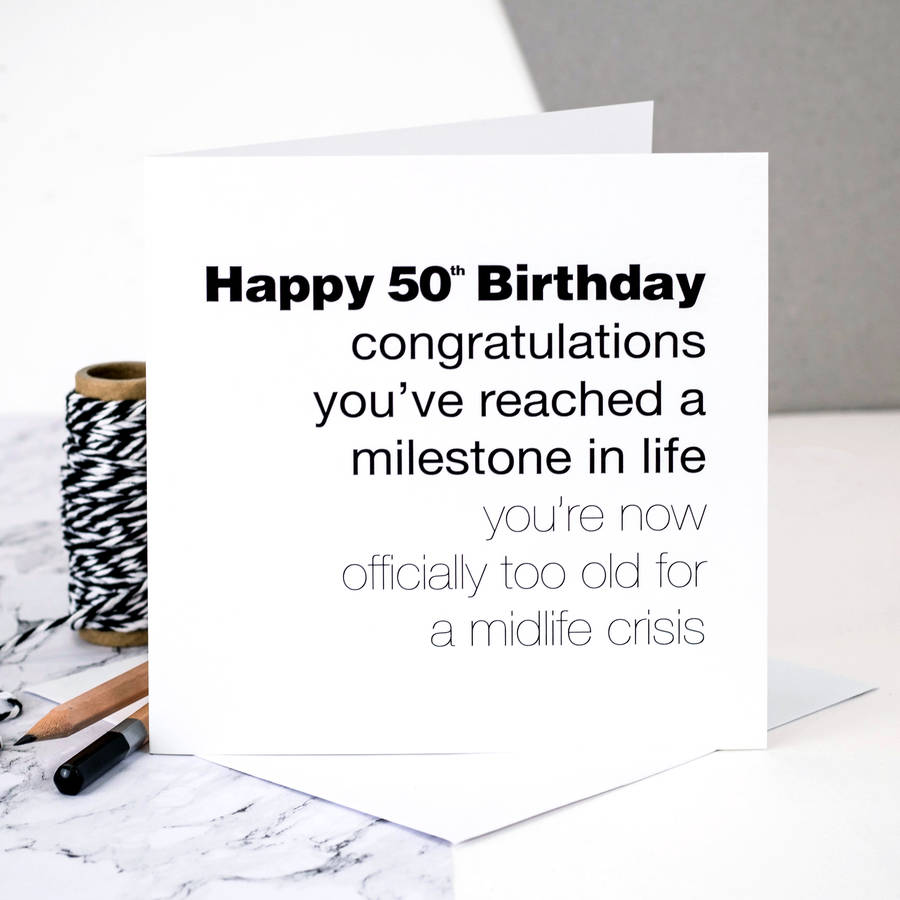 50th Birthday Card For Men By Coulson Macleod