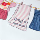 Personalised Illustrated Washing Line Print