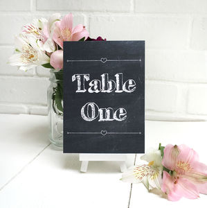 Chalkboard Table Number Or Name Cards