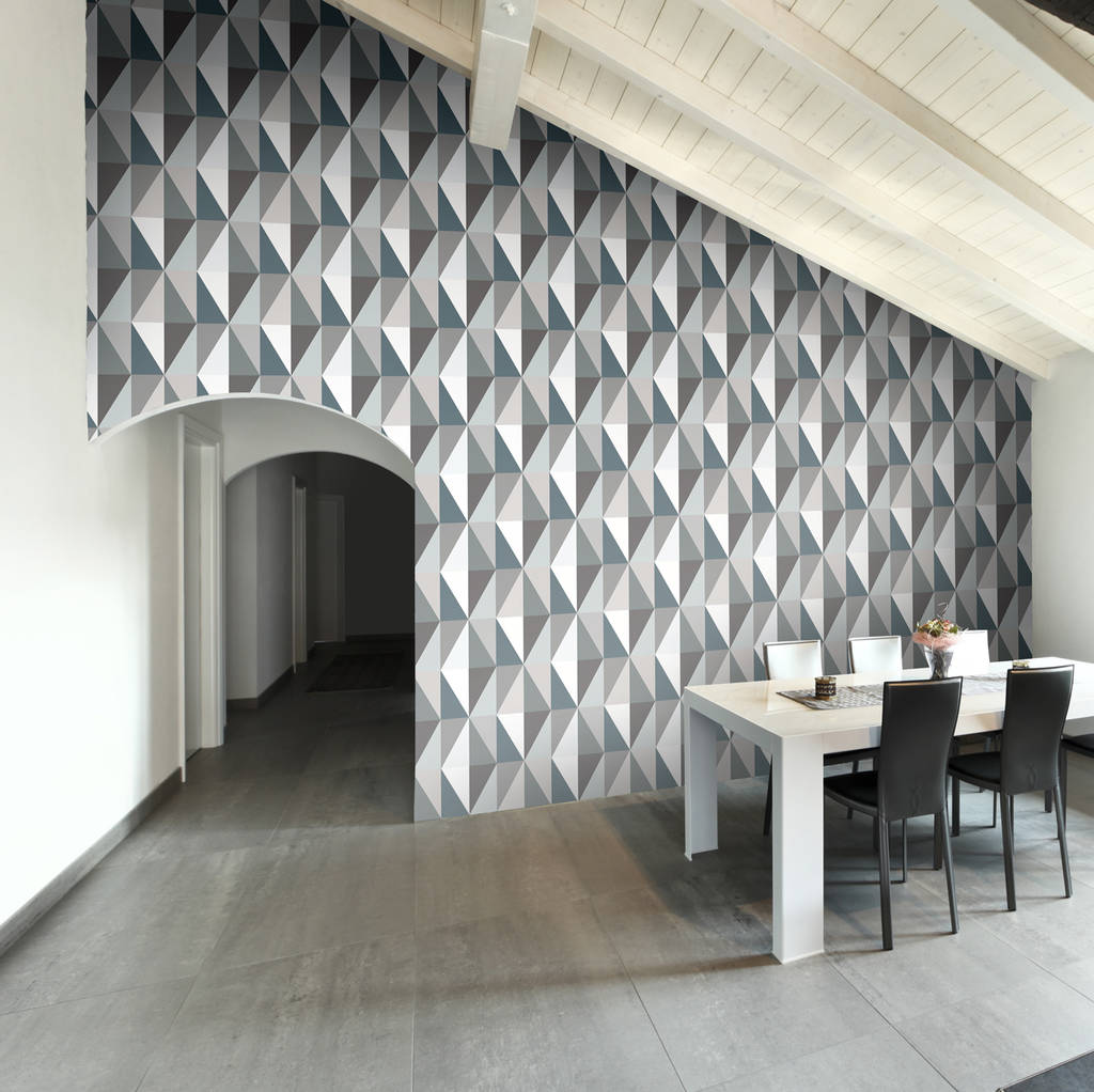 Diamond Geometric Tiled Wallpaper
