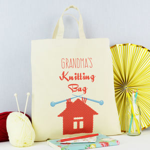 Knitting Bag - sewing & knitting