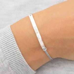 Matilda Personalised Bar Bracelet - 30th anniversary: pearl