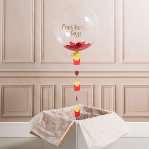 Fries Before Guys Personalised Galentine's Balloon