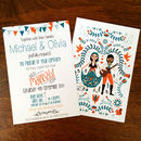 Folk Art Personalised Wedding Invitations
