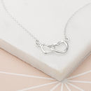 Personalised 'Linked Hearts' Necklace