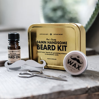 beard grooming kit by men 39 s society. Black Bedroom Furniture Sets. Home Design Ideas