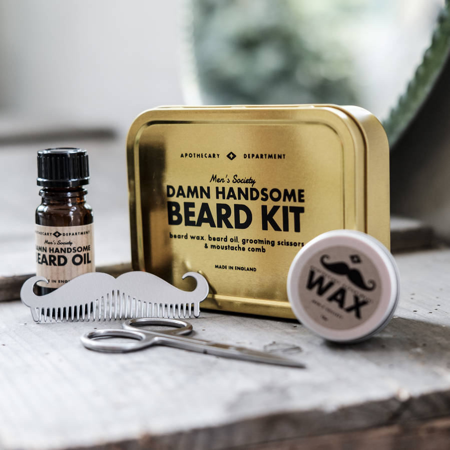 beard grooming kit by men 39 s society. Black Bedroom Furniture Sets. Home Design Ideas