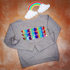 Personalised Rainbow Slouch Jumper - women's fashion