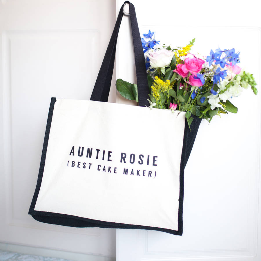 Personalised Shared Activity Auntie Bag