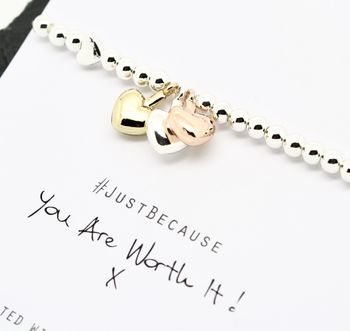 You Are Worth It Charm Bracelet