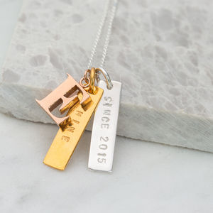 'Since' Personalised Necklace - jewellery