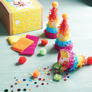 Mini Party Hat Piñata Kit - stocking fillers