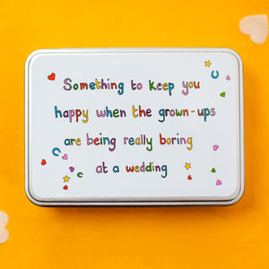 Something To Keep Children Happy At Weddings - wedding favours