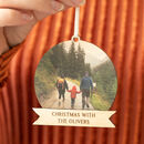 Personalised Family Photograph Christmas Bauble