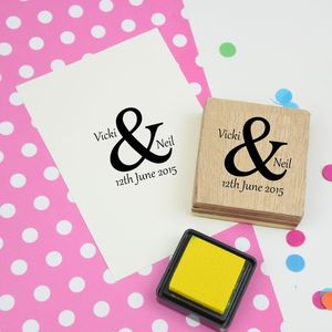 Ampersand Wedding Favour Personalised Stamp