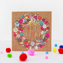 Limited Edition Oh Button Wreath Christmas Card