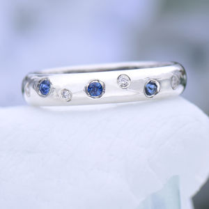 Blue Sapphire And Diamond Ring - rings