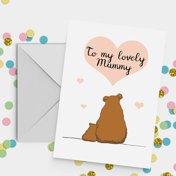 'My Lovely Mummy' Bear Mother's Day Card