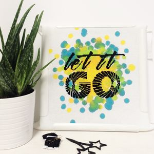 'Let It Go' Modern Cross Stitch Kit