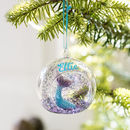Personalised Mermaid Glitter Christmas Tree Decoration