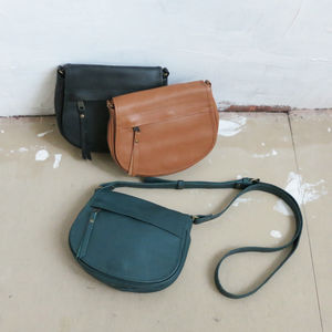 Leather Small Atma Messenger Shoulder Bag - cross-body bags