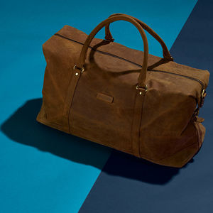 Vintage Leather Somerset Holdall - autumn bag edit