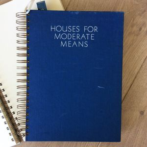 'Houses For Moderate Means' Upcycled Notebook