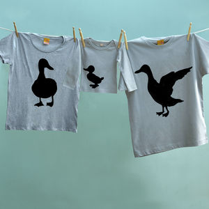 Father's Day Duck Family T Shirts For Dad Mum And Child - outfits & sets