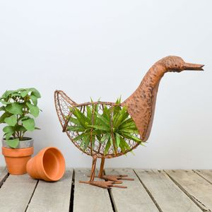 Wire Duck Garden Planter