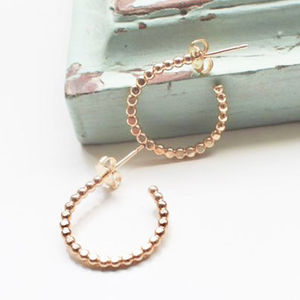 Small Beaded Hoops - earrings