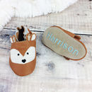Personalised Metallic Deer Fawn Baby Shoes