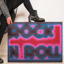 Rock 'N' Roll Knitted Sign