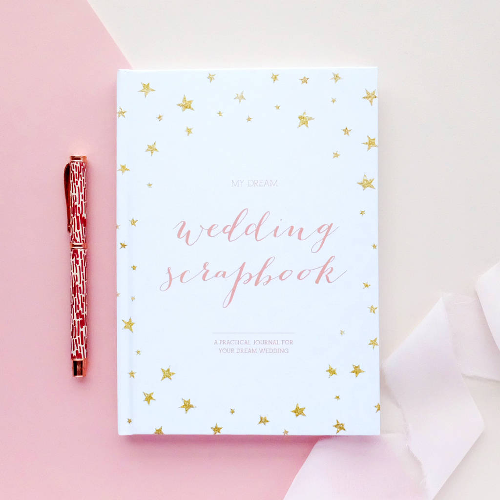 wedding planner book engagement gift by blush and gold