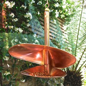 Copper Swirl Birdfeeder - bird feeders