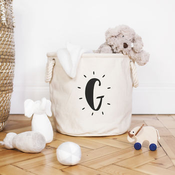Personalised Glowing Initial Nursery Basket