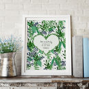 Personalised Botanical Wedding Print