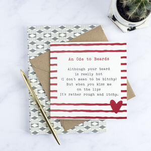 Funny Beard Poem Card