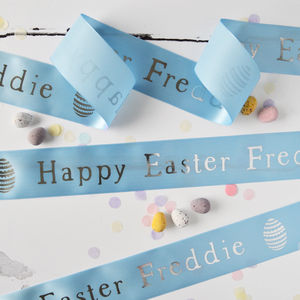 Easter 48mm Personalised Printed Ribbon