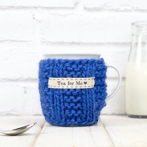 Personalised Knitted Mug Cosy - best gifts for mothers
