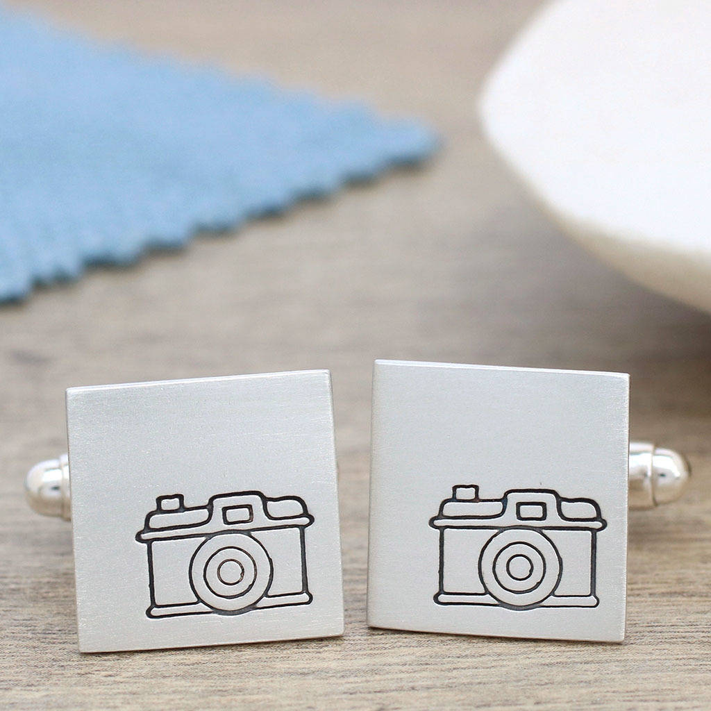 camera cufflinks with personalised secret message by louy magroos ...