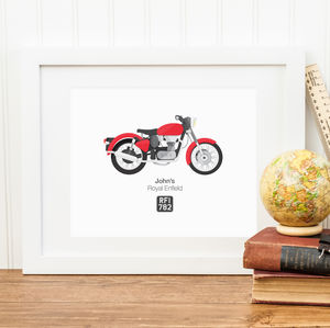 Personalised Bike Illustration Print - personalised