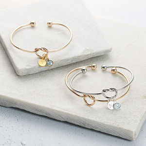 Friendship Knot Bangle - mother's day gifts
