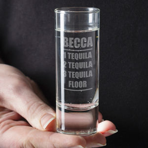 Personalised Shot Glass - table decorations