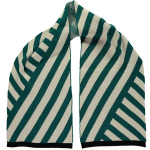 Stripe Scarf Teal - womens